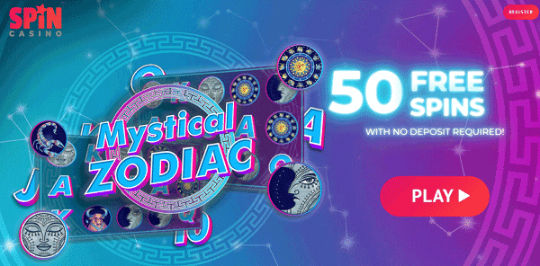 Play 50 free spins, no deposit required!