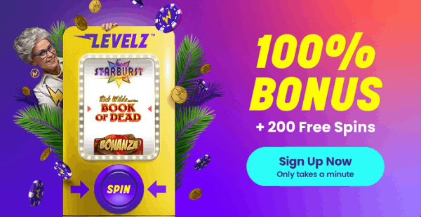 100% bonus and 200 free spins