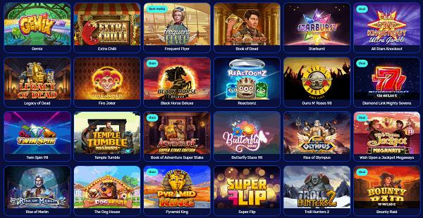 Premium Games: slots, table games, live dealer
