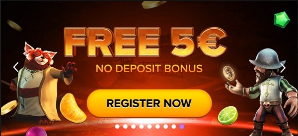 5 EUR free cash when you registrt and loose your first deposit and tthe next payment meothods.