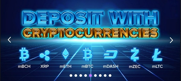 Deposit with differenr cryptocurrencies