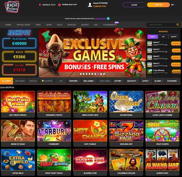 Welcome to Rch Prize Casino Website