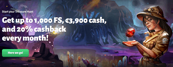Win a share of 1,000 Free Spins and 3,900 EUR in cash prizes!