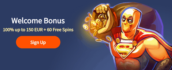 100% welcome bonus and 60 free spins