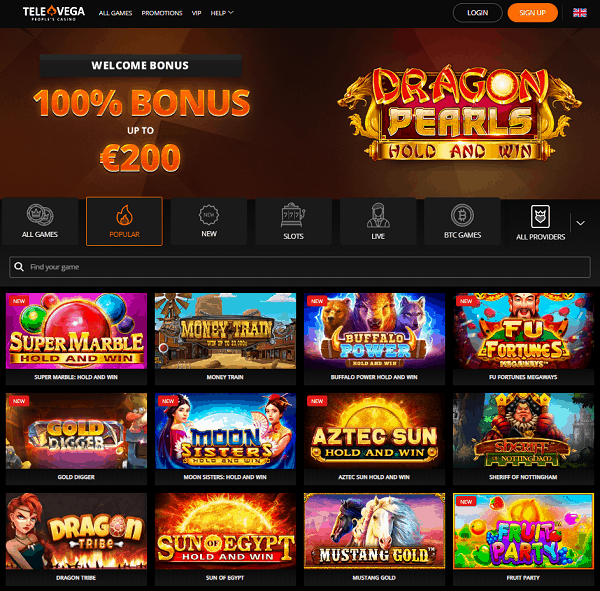 100% up to 200 EUR + 100 Free Spins on 1st deposit