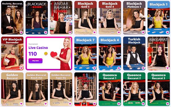 Live Dealer Games: Blackjack, Roulette, Poker, Baccarat