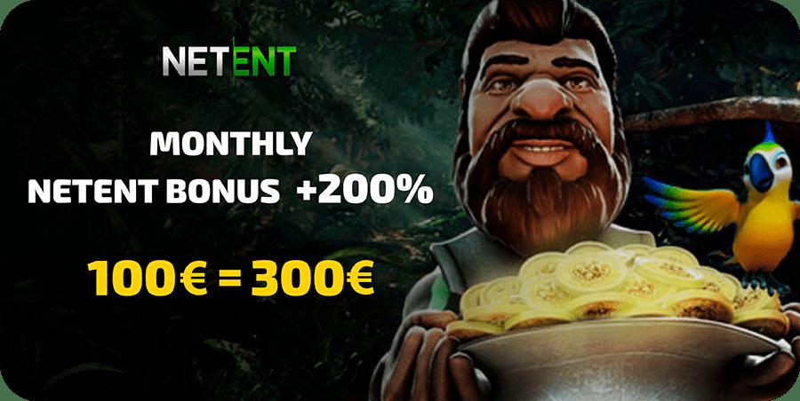 200% NETENT Bonus