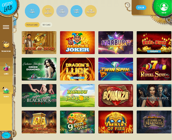 Casino Lab Website Review & Rating