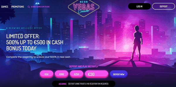 Get 500% bonus and free spins!