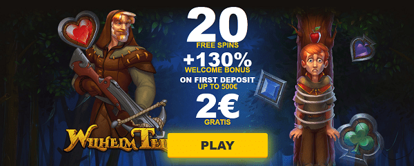 20 free spins + 2 EUR gratis Exclusive