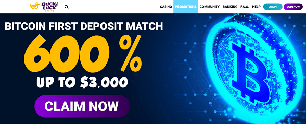 600% Bitcoin Welcome Bonus