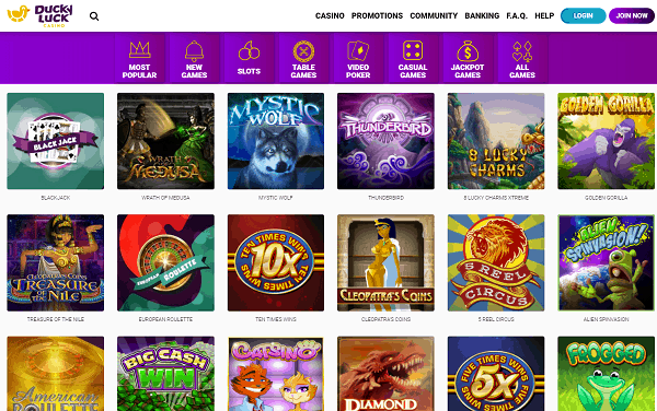 Welcome to Ducky Luck Casino Online!