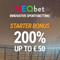 Neo Bet 200% bonus