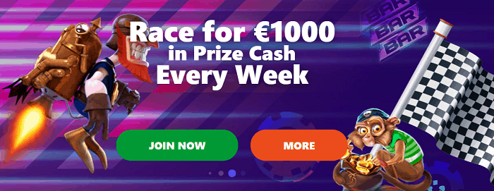 Casino Race with Free Money to be won