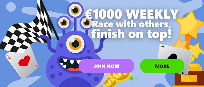 1000 EUR weekly bonus