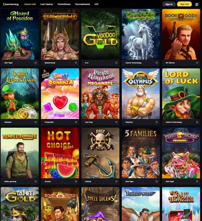 Boomerang Casino Website Review & Free Spins