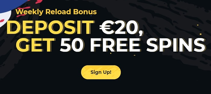 50 extra free spins every week