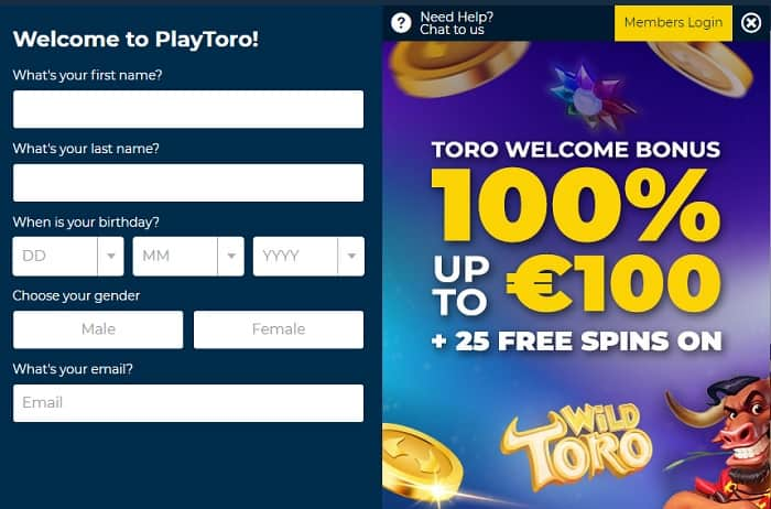Open your account and score 25 exclusive free spins!