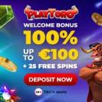 PlayToro Casino Review - 25 free spins and 100% free bonus