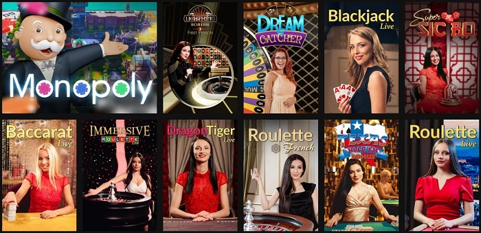 Live Dealer Games Free Bonus