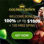 Golden Crown Casino Review 100 free spins bonus on deposit