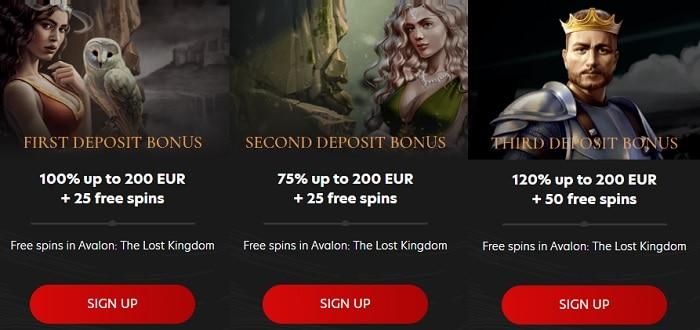 100% bonus and 25 free spins on first deposit