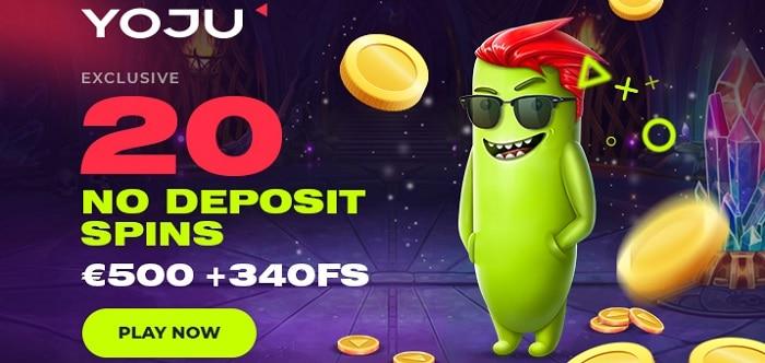 Yoju 20 free spins bonus