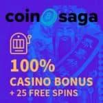 Is CoinSaga Casino legit? Get 25 free spins + 1 BTC bonus!